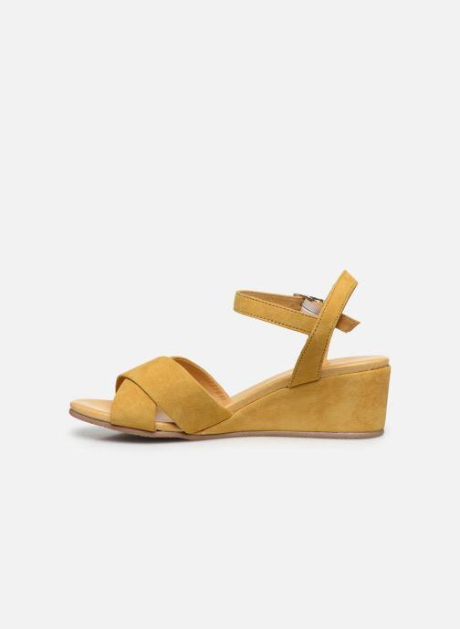 Sandales et nu-pieds Georgia Rose Soft Astino Jaune vue face