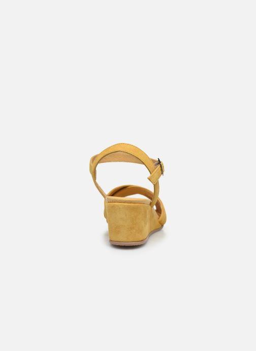Sandales et nu-pieds Georgia Rose Soft Astino Jaune vue droite