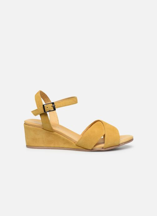 Sandales et nu-pieds Georgia Rose Soft Astino Jaune vue derrière