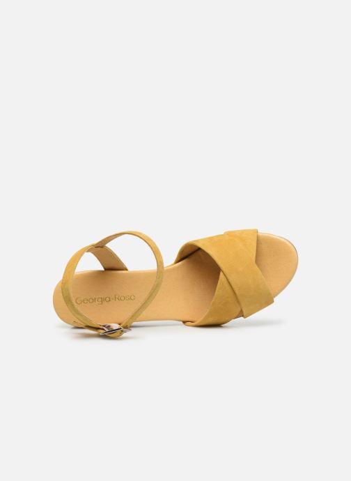 Sandales et nu-pieds Georgia Rose Soft Astino Jaune vue gauche