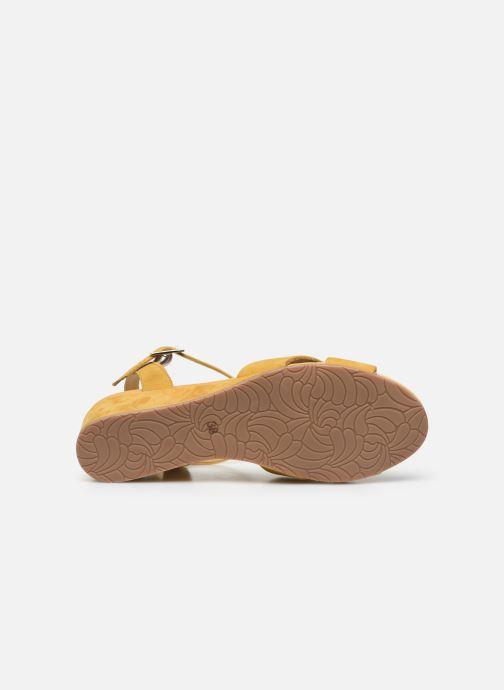 Sandales et nu-pieds Georgia Rose Soft Astino Jaune vue haut
