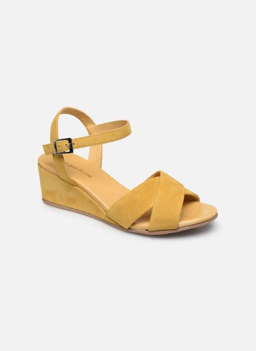 Sandales et nu-pieds Georgia Rose Soft Astino Jaune vue détail/paire