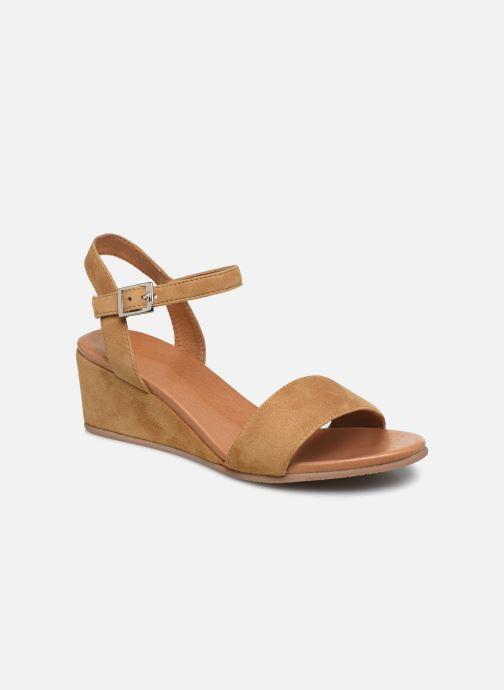 Sandales et nu-pieds Georgia Rose Soft Ablican Marron vue détail/paire