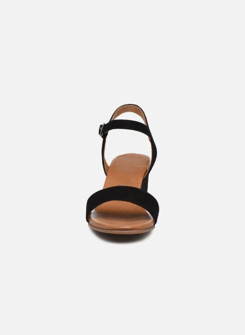 Sandales et nu-pieds Georgia Rose Soft Ablican Noir vue portées chaussures