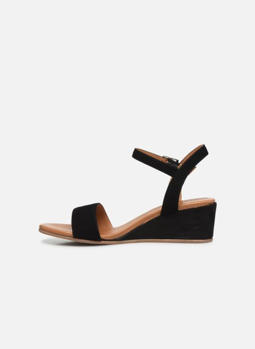 Sandales et nu-pieds Georgia Rose Soft Ablican Noir vue face
