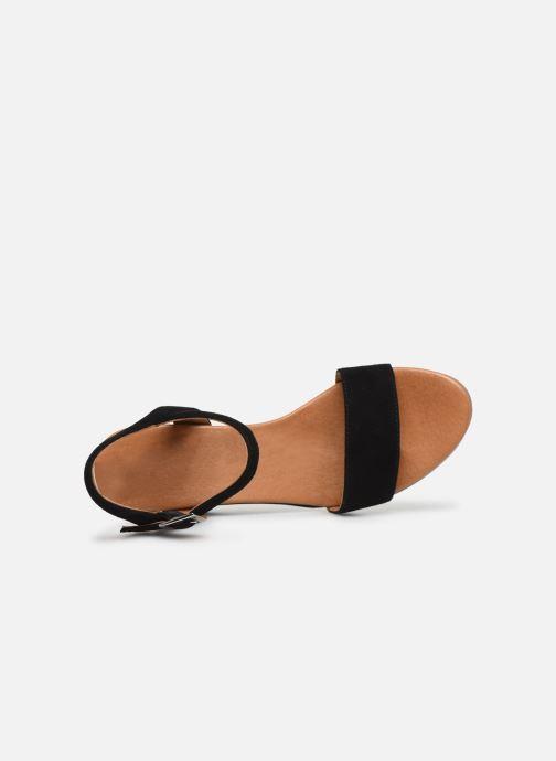 Sandales et nu-pieds Georgia Rose Soft Ablican Noir vue gauche