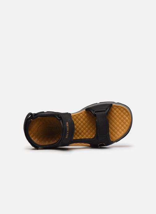Sandali e scarpe aperte Skechers Treshmen Hirano Nero immagine sinistra