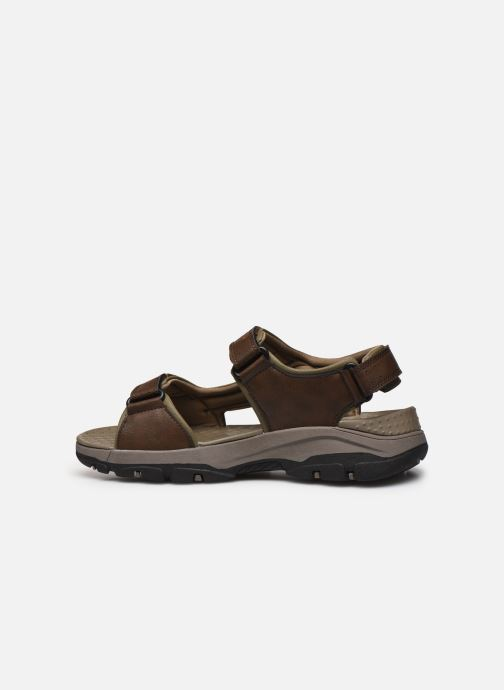 Sandali e scarpe aperte Skechers Treshmen Hirano Marrone immagine frontale