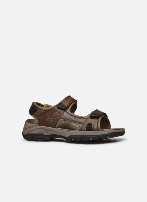 Sandali e scarpe aperte Skechers Treshmen Hirano Marrone immagine posteriore