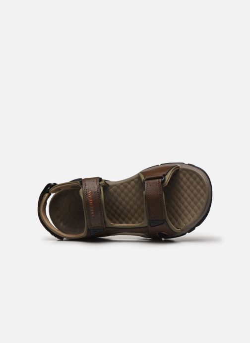 Sandali e scarpe aperte Skechers Treshmen Hirano Marrone immagine sinistra