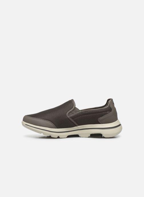 Sneakers Skechers GO WALK 5 H Bruin voorkant