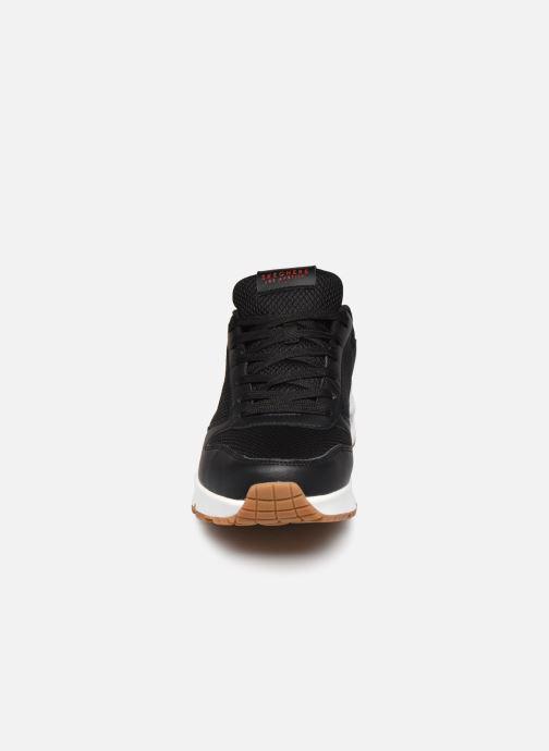 Sneaker Skechers UNO FASTIME schwarz schuhe getragen