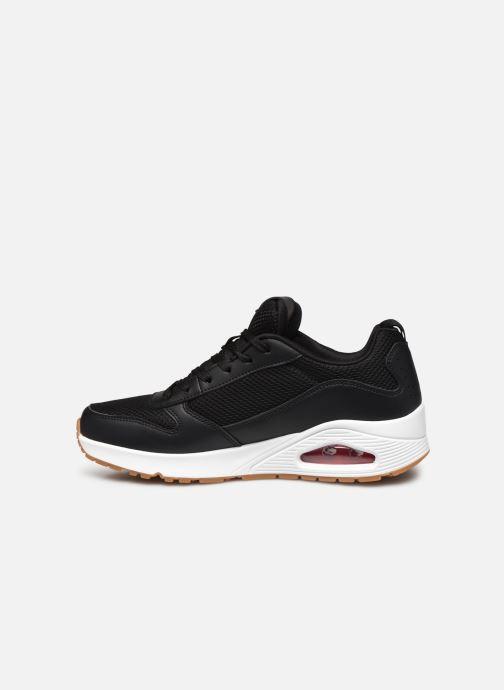 Sneaker Skechers UNO FASTIME schwarz ansicht von vorne