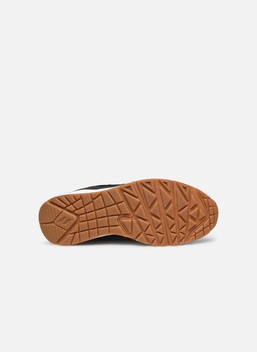 Sneaker Skechers UNO FASTIME schwarz ansicht von oben