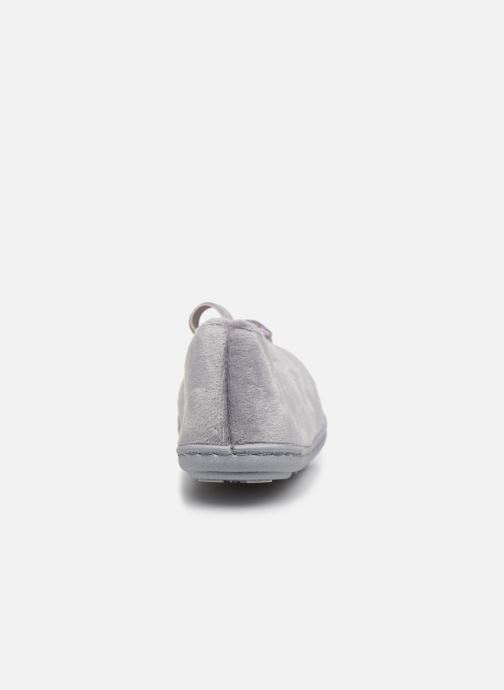 Chaussons Isotoner Ballerine Micro Velours Gris vue droite