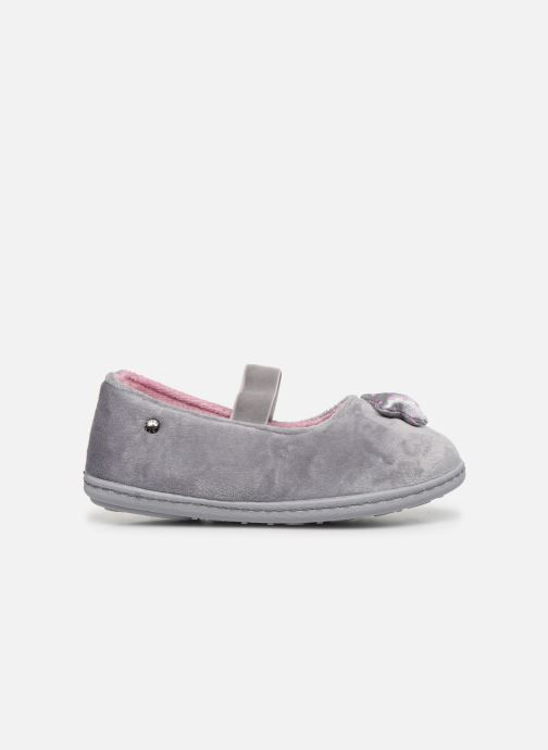 Pantofole Isotoner Ballerine Micro Velours Grigio immagine posteriore