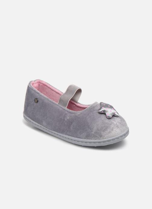 Pantofole Isotoner Ballerine Micro Velours Grigio vedi dettaglio/paio