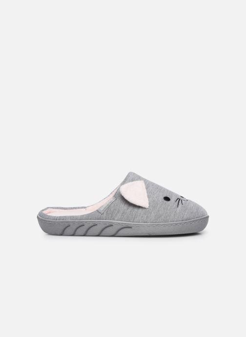 Pantofole Isotoner Mule Fille Jersey Grigio immagine posteriore