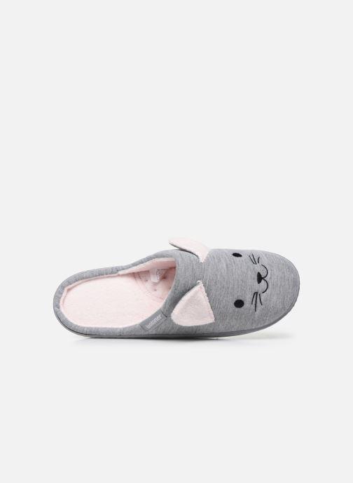 Pantofole Isotoner Mule Fille Jersey Grigio immagine sinistra