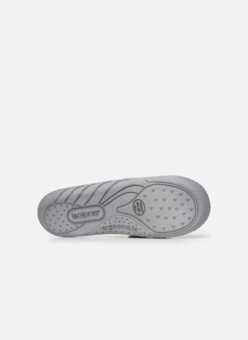 Pantofole Isotoner Mule Fille Jersey Grigio immagine dall'alto