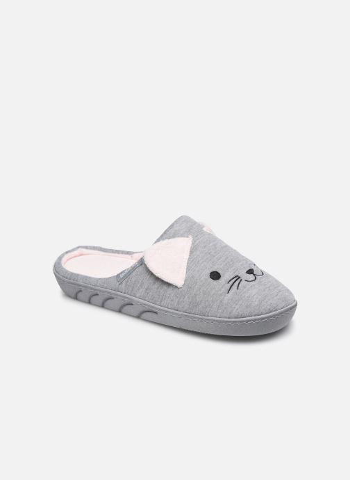 Pantofole Isotoner Mule Fille Jersey Grigio vedi dettaglio/paio