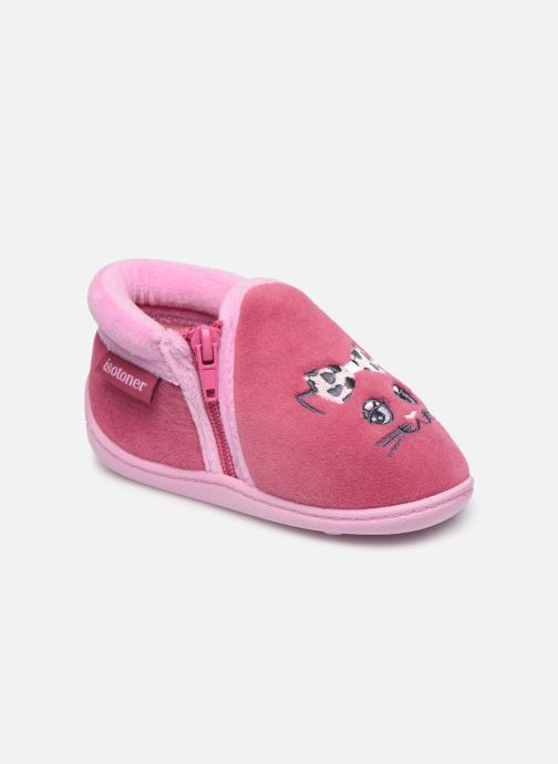 Chaussons Enfant Bottillon Zip Fille Polyvelours