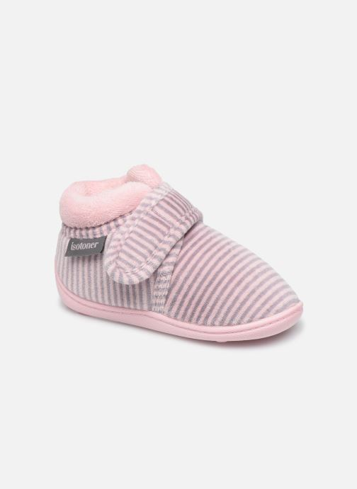 Chaussons Enfant Bottillon Velcro Fille Velours