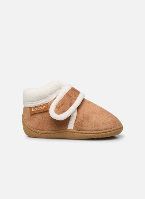 Pantofole Isotoner Bottillon Velcro Marrone immagine posteriore