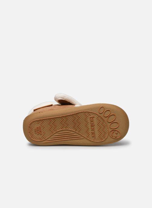 Pantofole Isotoner Bottillon Velcro Marrone immagine dall'alto