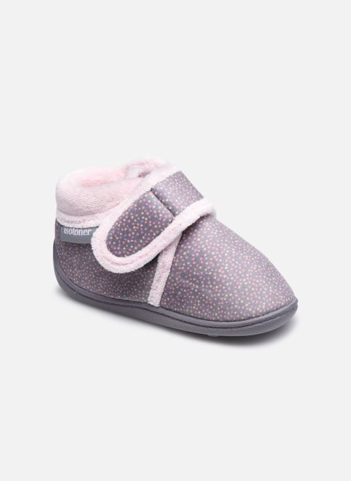 Pantofole Isotoner Bottillon Velcro Grigio vedi dettaglio/paio