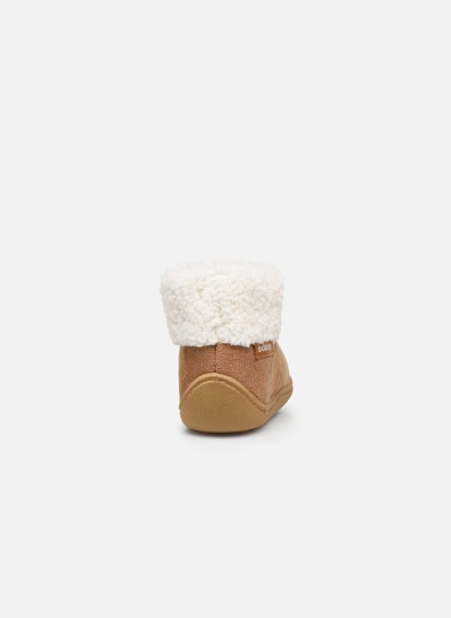 Pantofole Isotoner Bottillon Marrone immagine destra
