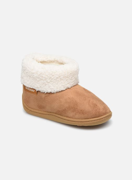 Pantofole Isotoner Bottillon Marrone vedi dettaglio/paio