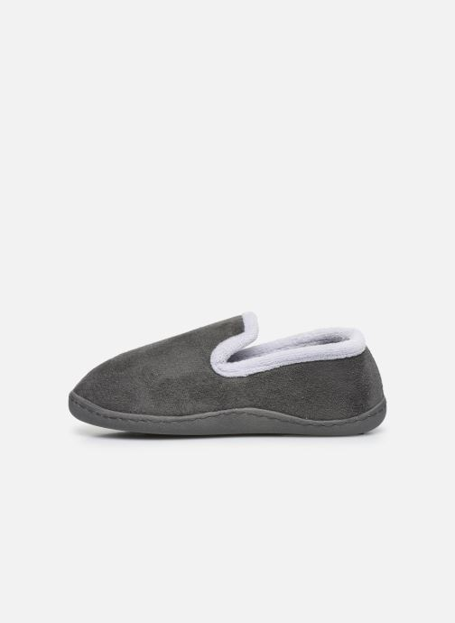 Chaussons Isotoner Charentaise Gris vue face