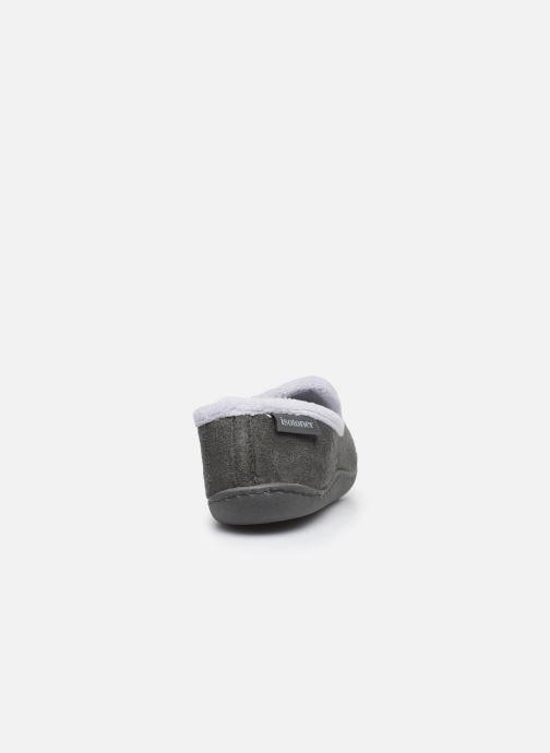 Pantofole Isotoner Charentaise Grigio immagine destra