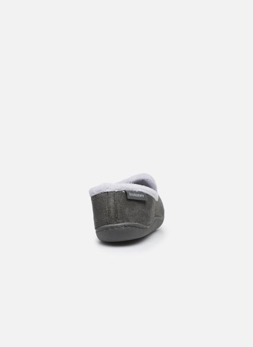 Chaussons Isotoner Charentaise Gris vue droite