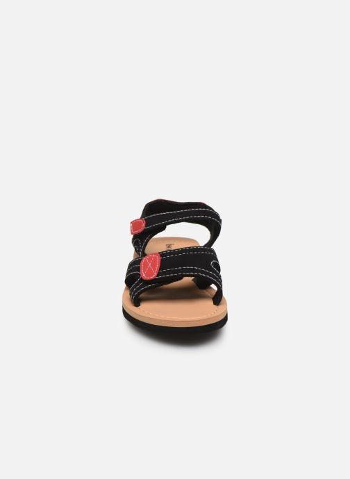 Sandali e scarpe aperte Isotoner Sandales Garçon Nero modello indossato