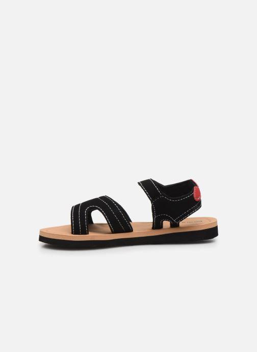 Sandali e scarpe aperte Isotoner Sandales Garçon Nero immagine frontale
