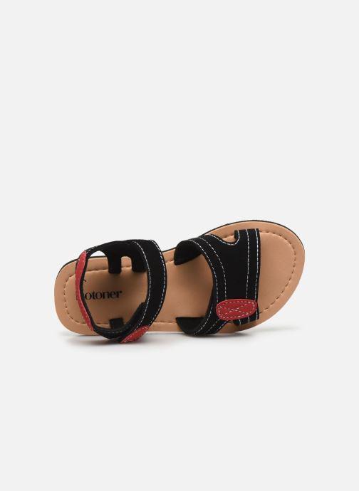 Sandali e scarpe aperte Isotoner Sandales Garçon Nero immagine sinistra