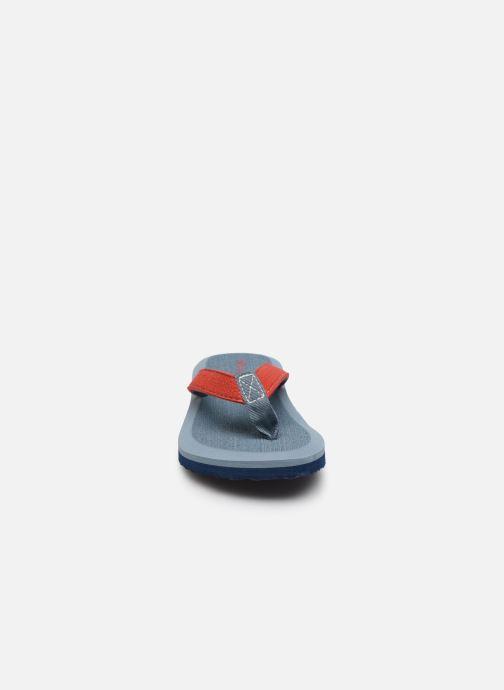 Tongs Isotoner Tong OP Yoga Kids Bleu vue portées chaussures
