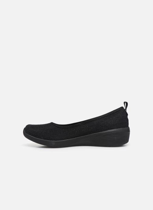 Pantuflas Skechers ARYA AIRY DAYS Negro vista de frente