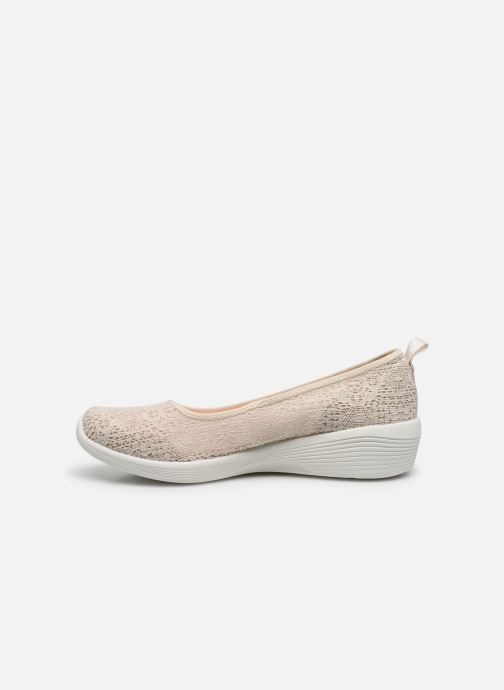 Chaussons Skechers ARYA AIRY DAYS Beige vue face