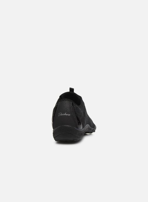 Deportivas Skechers BREATHE-EASY OPPORTUKNITY Negro vista lateral derecha