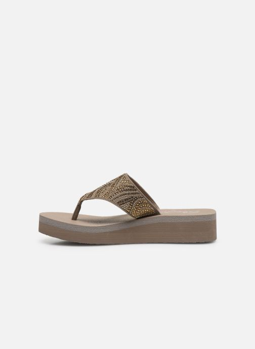 Tongs Skechers VINYASA STONE CANDY Beige vue face
