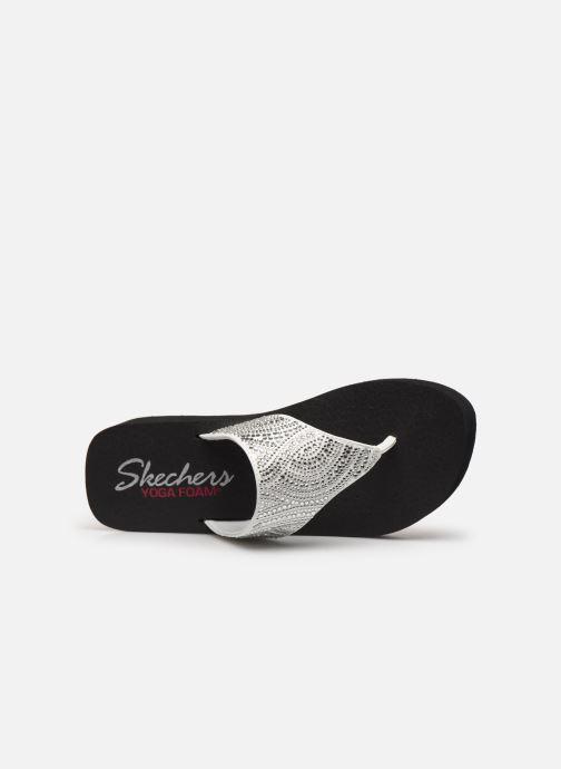 Tongs Skechers VINYASA STONE CANDY Blanc vue gauche