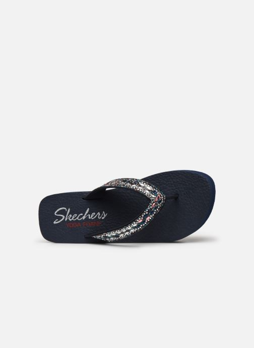Tongs Skechers VINYASA GLORY DAY Bleu vue gauche