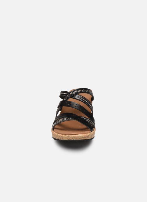 Mules et sabots Skechers BEVERLEE TIGER POSSE Noir vue portées chaussures