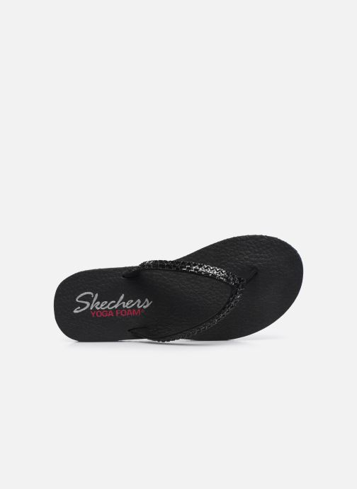 Chanclas Skechers MEDITATION SHINE AWAY Negro vista lateral izquierda