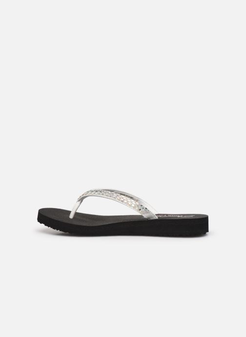 Tongs Skechers MEDITATION SHINE AWAY Blanc vue face