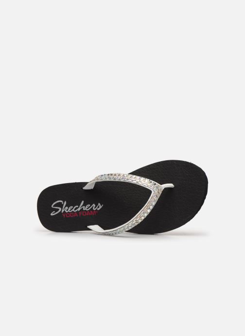 Tongs Skechers MEDITATION SHINE AWAY Blanc vue gauche