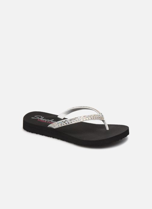 Tongs Skechers MEDITATION SHINE AWAY Blanc vue détail/paire